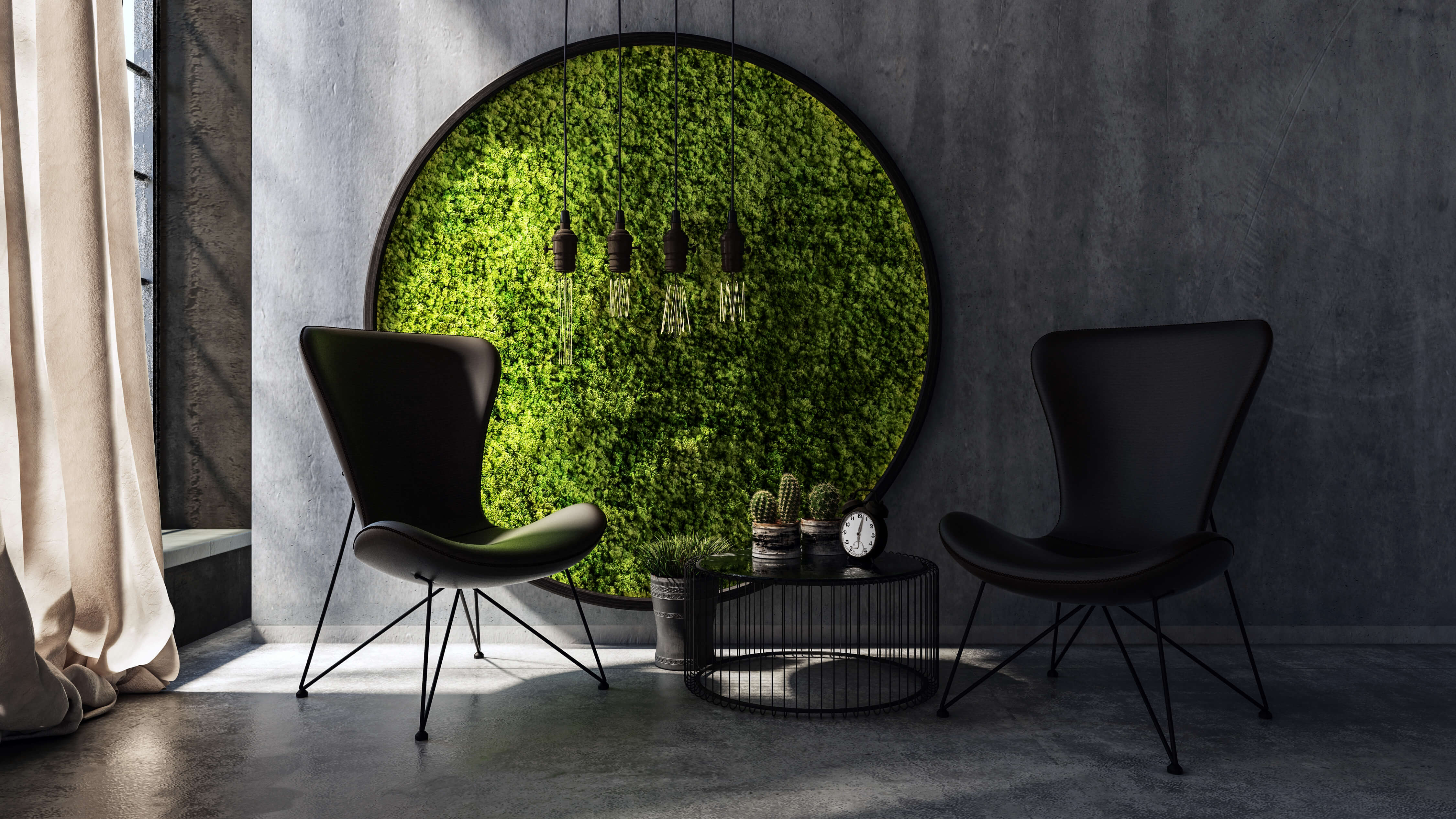 25 steps to create a diy moss wall garden. Black Bedroom Furniture Sets. Home Design Ideas